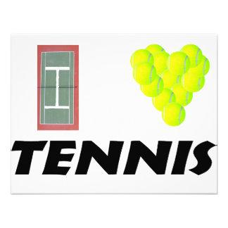 I love tennis personalized invite