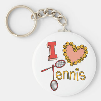 I Love Tennis Keychain