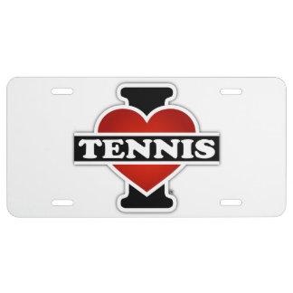 I Love Tennis License Plate