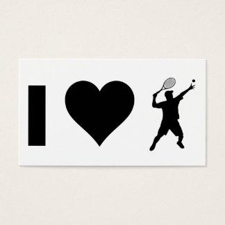 I Love Tennis (Male) Business Card