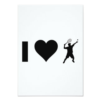 I Love Tennis (Male) Card
