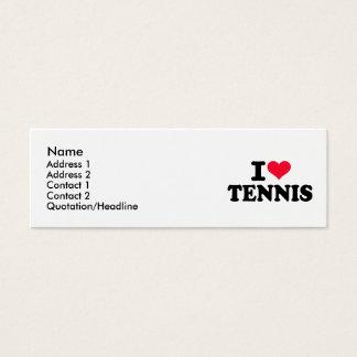 I love Tennis Mini Business Card
