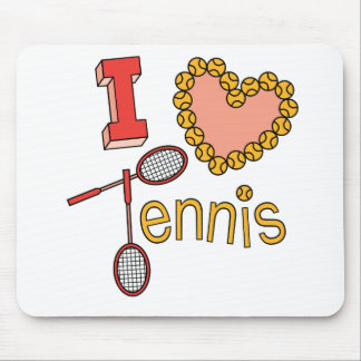 I Love Tennis Mouse Mats