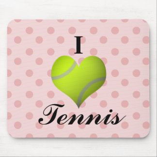 I Love Tennis Mouse Pad