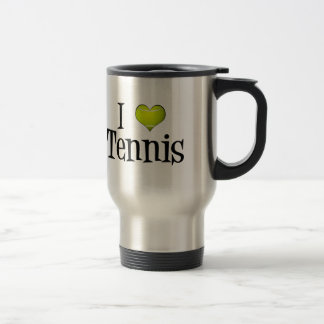 I Love Tennis 15 Oz Stainless Steel Travel Mug