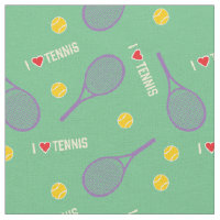 I love tennis on minty fabric
