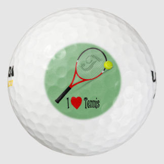 I Love Tennis Pack Of Golf Balls