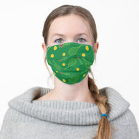 I love tennis pattern cloth face mask