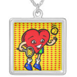 I Love Tennis Personalized Necklace