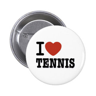 I LOVE TENNIS PINBACK BUTTON