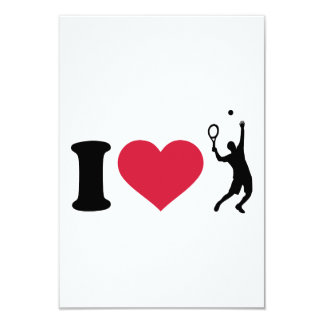 I love tennis player personalized announcement