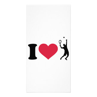 I love tennis player photo card