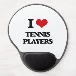 I love Tennis Players Gel Mouse Pad