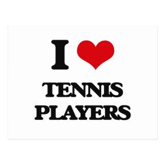 I love Tennis Players Postcard