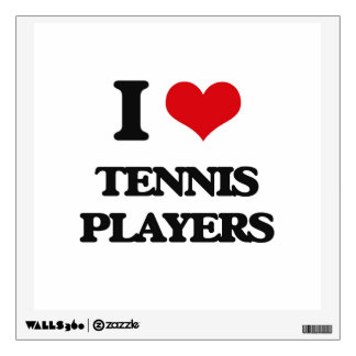 I love Tennis Players Wall Skin