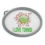 I Love Tennis.png Belt Buckles