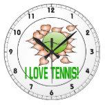 I Love Tennis.png Wall Clock
