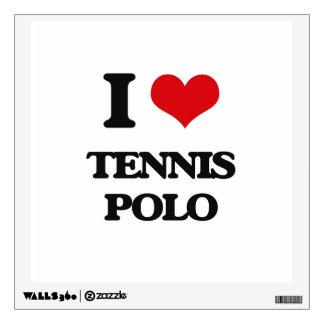 I Love Tennis Polo Wall Skins