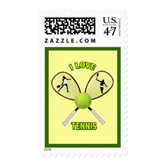 I LOVE TENNIS POSTAGE
