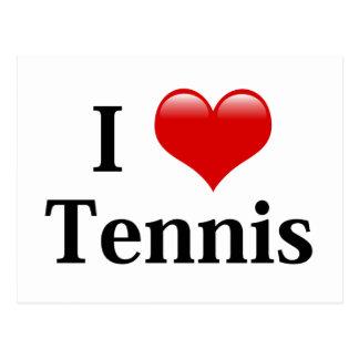 I Love Tennis Postcard