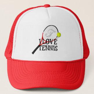 I Love Tennis - Racquet and Ball Trucker Hat