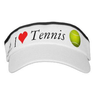 I Love Tennis Red Heart and Sports Ball Visor