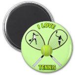 I LOVE TENNIS REFRIGERATOR MAGNETS