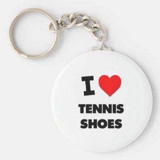 I love Tennis Shoes Keychain