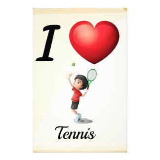 I love tennis stationery