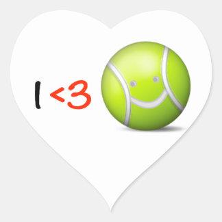 I love tennis heart sticker