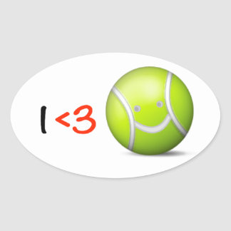 I love tennis oval sticker