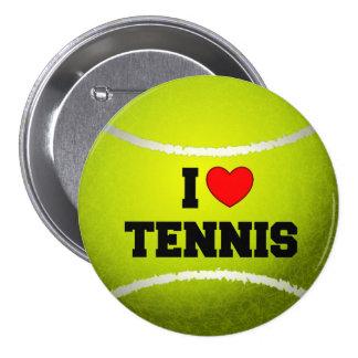 I Love Tennis - tennis ball - grass Pinback Button