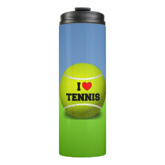 I Love Tennis - tennis ball - grass Thermal Tumbler