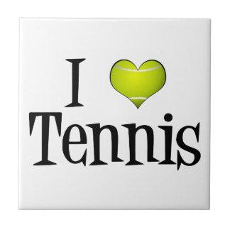 I Love Tennis Small Square Tile