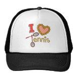 I Love Tennis Trucker Hats