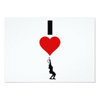 I Love Tennis Vertical (Female) Card
