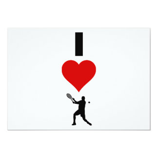 I Love Tennis Vertical (Male) Card