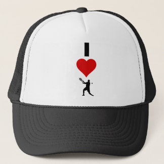 I Love Tennis Vertical (Male) Trucker Hat