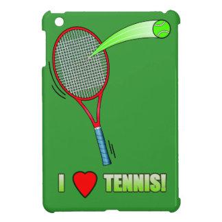 I Love Tennis with Heart iPad Mini Cases