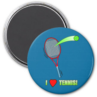 I Love Tennis with Heart Magnet