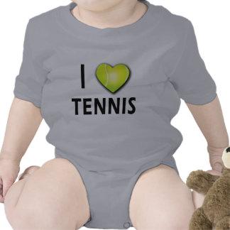 I Love Tennis with Tennis Ball Heart T Shirt