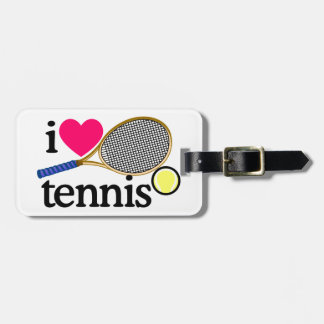 I LOVE TENNNIS TAG FOR LUGGAGE