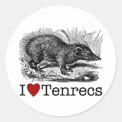 I Love Tenrecs Sticker