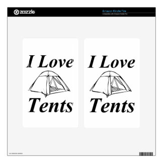 I Love Tents Decal For Kindle Fire