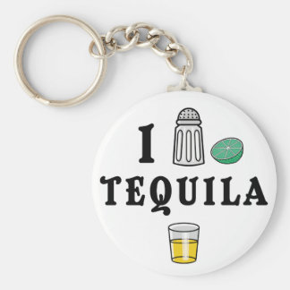 I Love Tequila Key Chain
