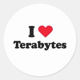 I love terabytes stickers
