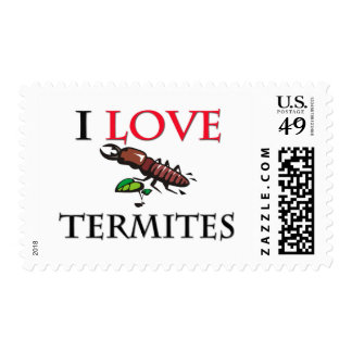 I Love Termites Postage Stamps