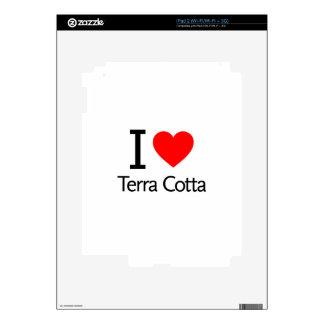 I Love Terra Cotta iPad 2 Decal