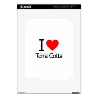 I Love Terra Cotta iPad 3 Decals