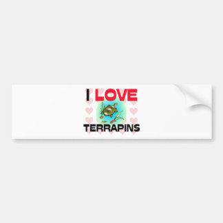I Love Terrapins Bumper Sticker